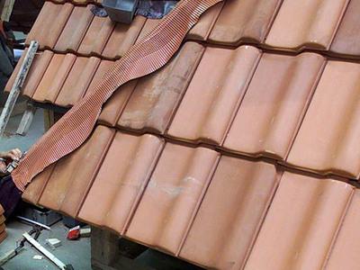 Dachrinnen und Dachplatten müssen einmal pro Jahr geprüft werden