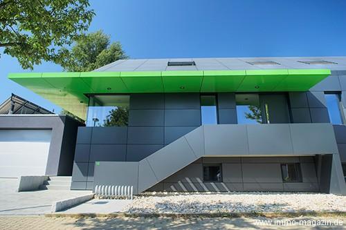 Haus Fassade aus Aluminium Metall