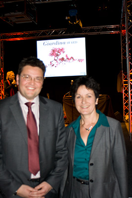 Eröffnung: Geschäftsführer Christoph Hinte mit Bürgermeisterin Mergen