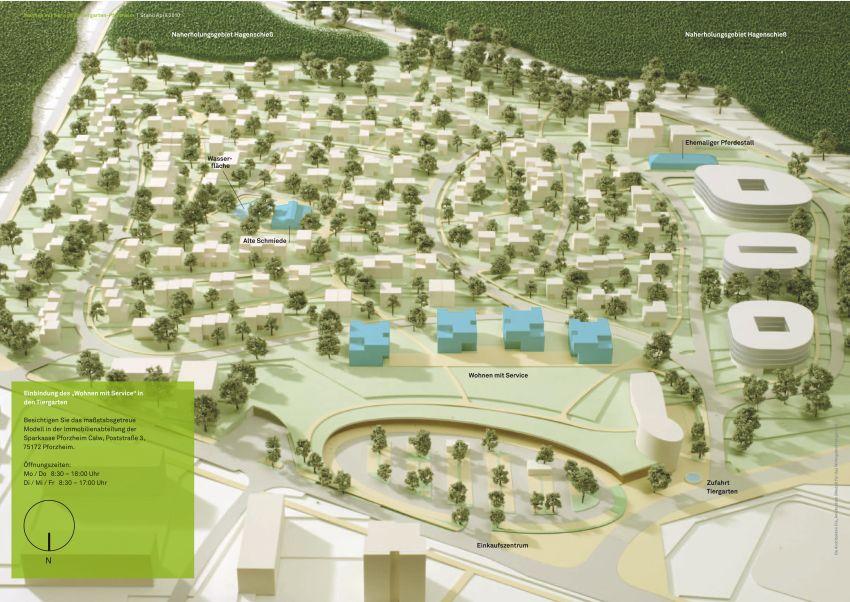 Baugebiet Tiergarten in Pforzheim