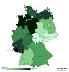 Vergleich Nebenkosten nach Bundesländern, Quelle: MINOKA