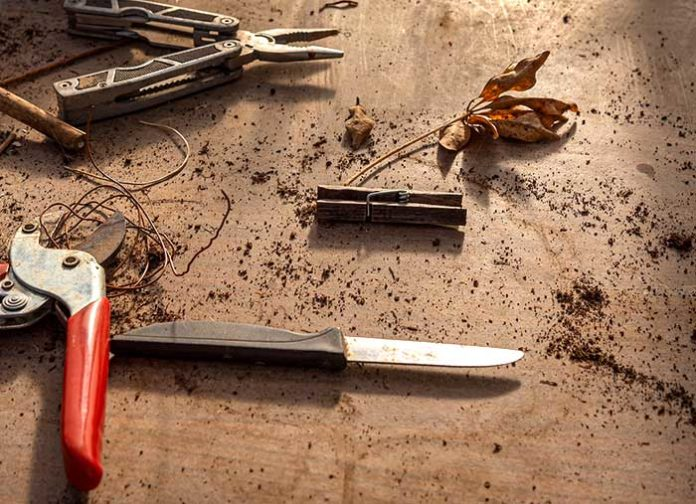 Gartenwerkzeuge reinigen