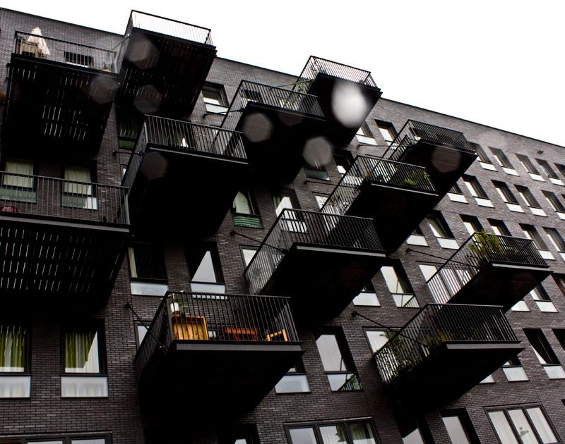 balkonanbau weg