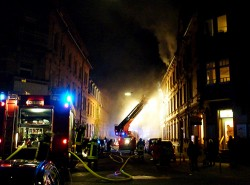 Panikschloss  in der Haustür als Sicherheit bei Hausbrand
