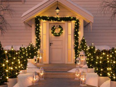 Weihnachten Dekoration Tür